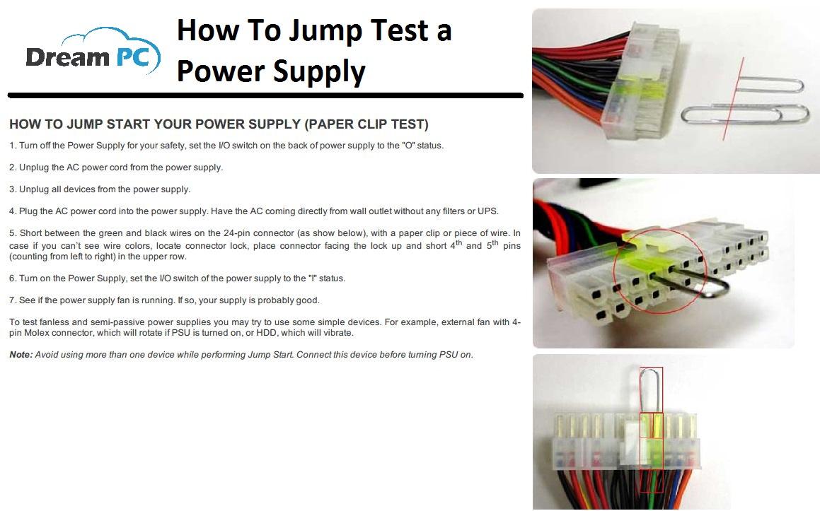 Power Supply Jump Test | Dream PC Power Supply